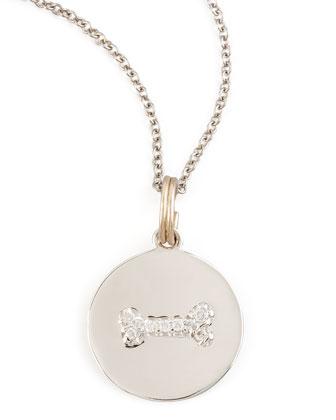 Diamond Dogbone Charm