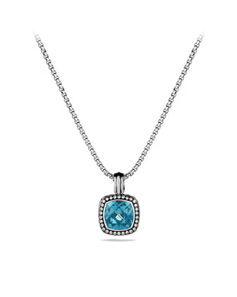 Albion Pendant with Hampton Blue Topaz and Diamonds