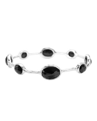 Paparazzi Bangle in Black Onyx