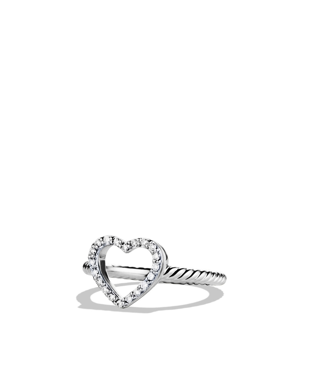 Cable Collectibles Heart Ring with Diamonds - David Yurman