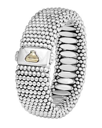 Wide Caviar Bracelet