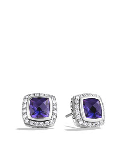 David Yurman 7mm Amethyst Petite Albion Earrings