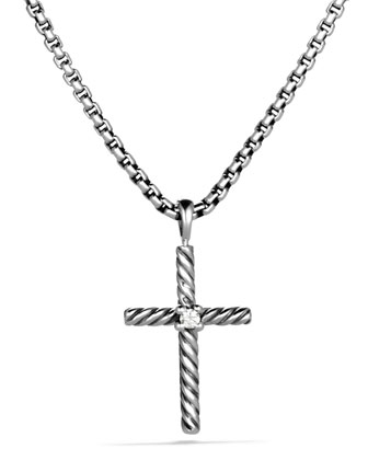 Cable Classics Cross with Diamond on Chain