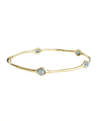 Five-Stone Bangle, London Blue Topaz