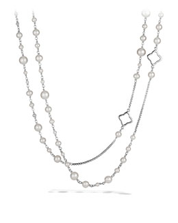 David Yurman Pearl Quatrefoil Necklace