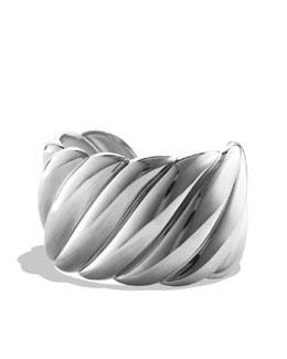 David Yurman Wide Sculpted Cable Cuff