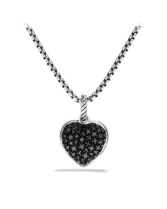 Midnight M??lange Heart Pendant with Black Diamonds