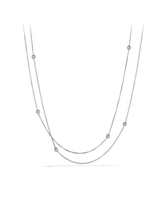Chain Necklace with Diamonds