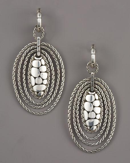 Kali Taman Zen Oval Drop Earrings
