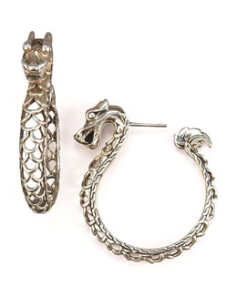 John Hardy Naga Dragon Hoop Earrings