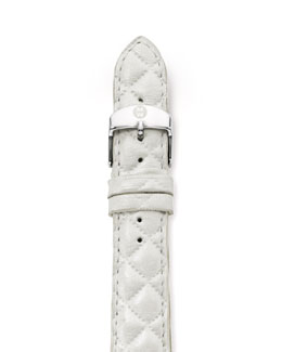 Michele 16mm Quilted Strap, White