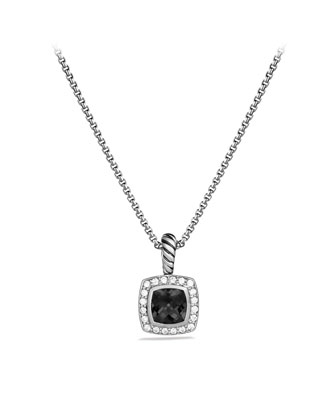 Petite Albion Pendant with Black Onyx and Diamonds on Chain