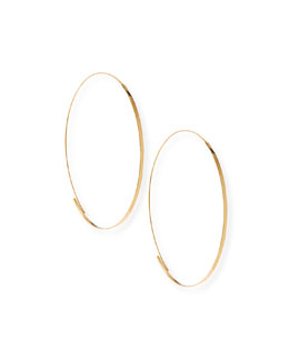 Lana Flat Magic Hoops, Yellow Gold