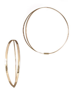 Lana Flirt Hoop Earrings, Small