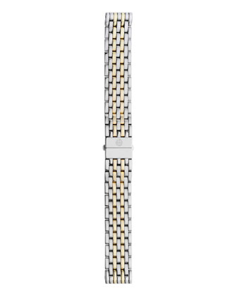 Deco Diamond Gold Watch Head & 18mm Deco Two-Tone Bracelet Strap