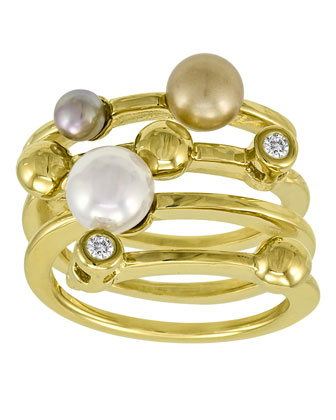 Four-Band Pearl Ring