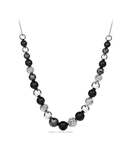 David Yurman DY Elements Necklace, Black Onyx, 16""