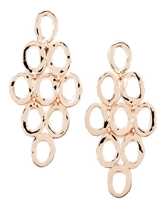 Rose Gold Open Cascade Post Earrings & Clip-On Earrings