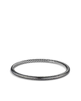 David Yurman 4mm Hammered Midnight Melange Bangle