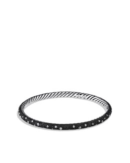 David Yurman Midnight Melange Stackable Bangle, Pave Diamonds