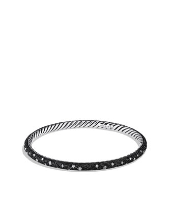 Midnight M??lange Bangle with Black Diamonds