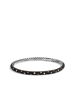 David Yurman 4mm Diamond Midnight Melange Bangle