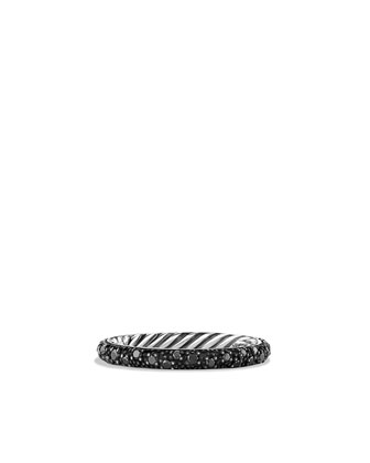 Midnight M??lange Band Ring with Black Diamonds