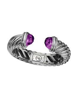 David Yurman 14x7mm Amethyst Waverly  Bracelet