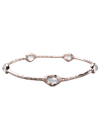 Five-Stone Rose Bangle, Clear