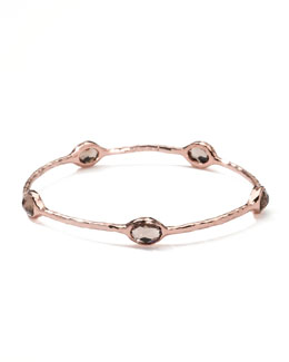 Ippolita Five-Stone Rose Bangle, Smoky