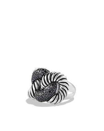 Cordelia Ring with Black Diamonds