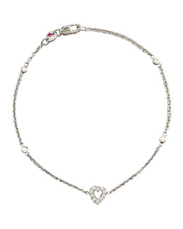 Roberto Coin Exclusive Tiny Treasure Diamond Heart Bracelet