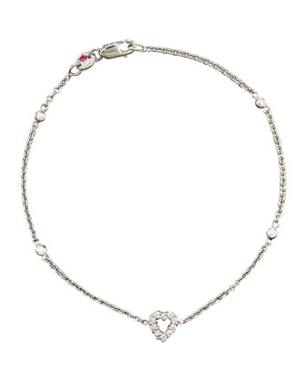 Exclusive Tiny Treasure Diamond Heart Bracelet