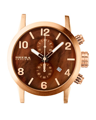 Isabella Rose Golden Brown Mother-of-Pearl Dial Chronograph & Brown ...