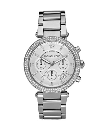 Parker Glitz Watch, Silver Color