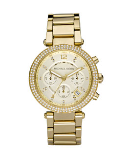 Michael Kors  Parker Glitz Watch, Golden