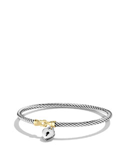 David Yurman Cable Collectibles Heart Lock Bracelet, 3mm