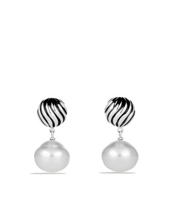 DY Elements Drop Earrings with South Sea Pearls