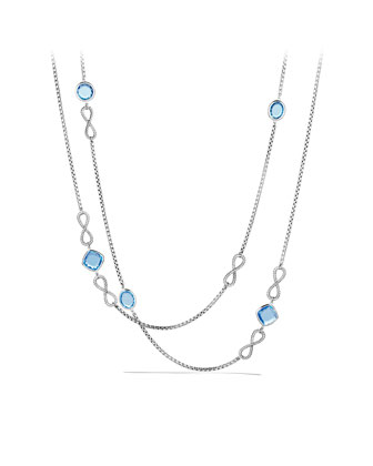 Confetti Figure-Eight Necklace with Blue Topaz