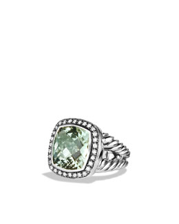 David Yurman Moonlight Ice Ring, Prasiolite, 14mm