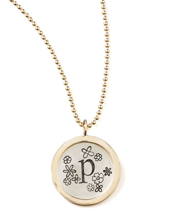 Beaded Chain & Personalized Flower Charm