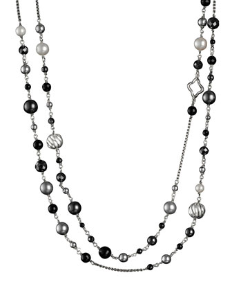 DY Elements Necklace, Black Onyx, 48