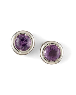 Roberto Coin Amethyst Stud Earrings