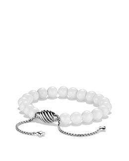 David Yurman Spiritual Bead Bracelet, White Agate 8mm