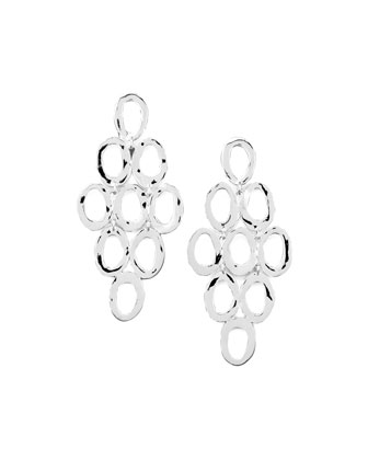 Silver Open Cascade Post Earrings