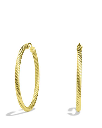 Cable Classics Large Hoop Earrings in Gold