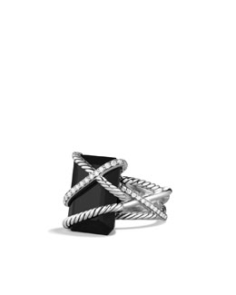 David Yurman Cable Wrap Ring, Black Onyx