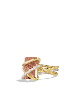 David Yurman Cable Wrap Ring, Morganite