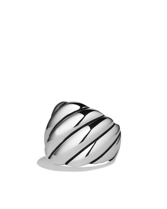 Sculpted Cable Ring, Wide