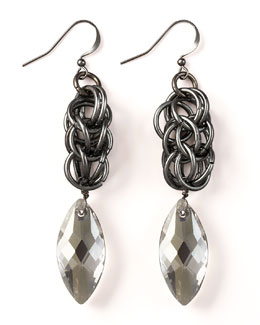 Nest Braided Chain Drop Earrings